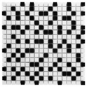 PURE WHITE MIX 15 Mozaika kamienna DUNIN