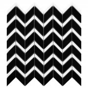 PURE BLACK CHEVRON MIX Płytka gresowa DUNIN