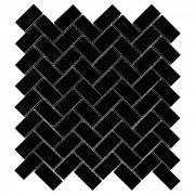 EASTERN BLACK HERRINGBONE 48 Mozaika kamienna DUNIN