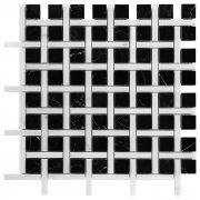 PURE BLACK BW02 Mozaika kamienna DUNIN