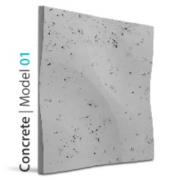 Model 01 CURVES CONCRETE Panel ścienny 3D LOFT SYSTEM