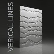 VERTICAL LINES Panel ścienny 3D DUNES