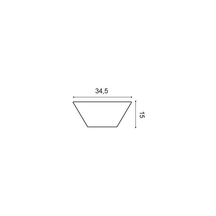 Orac Decor W101 Trapez Panel ścienny 3D