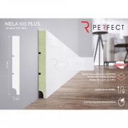 Perfect Nela 100 PLUS Listwa przypodłogowa