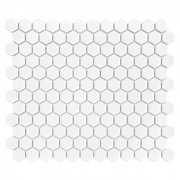 MINI HEXAGON WHITE Płytka gresowa DUNIN