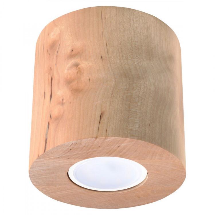 Orbis Sollux Lighting Plafon Drewno Owalny