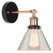 New York Loft No.1 Clear Brass Altavola Design Lampa ścienna