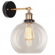 New York Loft No.2 Clear Brass Altavola Design Lampa ścienna