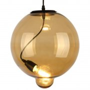 Modern Glass Bubble Amber Altavola Design Lampa wisząca