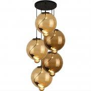 Modern Glass Bubble CO Amber Coffee Altavola Design Żyrandol