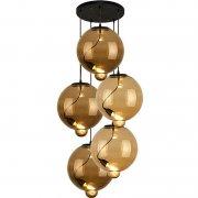 Modern Glass Bubble CO Coffee Amber Altavola Design Żyrandol