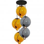 Modern Glass Bubble CO Yellow Smoky Altavola Design Żyrandol