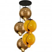 Modern Glass Bubble CO Coffee Yellow Altavola Design Żyrandol