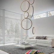 Ledowe Okręgi No.8 in 4k 90cm czarny Altavola Design Lampa wisząca