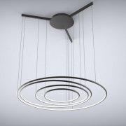 Ledowe Okręgi No.3 CO in 3k czarna Altavola Design Lampa wisząca