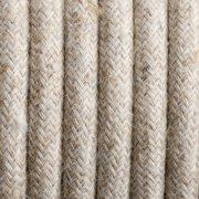 Kabel w oplocie lnianym dwużyłowy 0,75 mm Kolorowe Kable