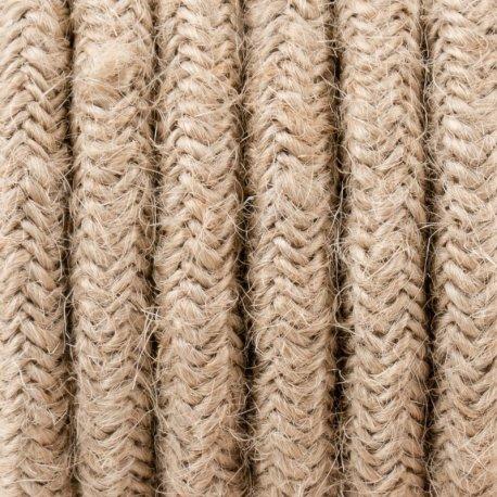 Kabel w oplocie jutowym dwużyłowy 0,75 mm Kolorowe Kable