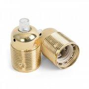 Metalowa oprawka bez pierścienia Kolorowe Kable gwint E27