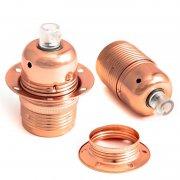 Metalowa oprawka z pierścieniem Kolorowe Kable gwint E27