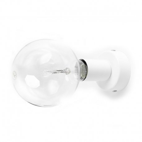 Loft Metal mat Kolorowe Kable Lampa ścienna biała strukturalna maskownica