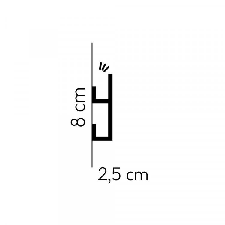 Mardom Decor Premium QL019P Paper Pomalowana Listwa Przypodłogowa Polimerowa