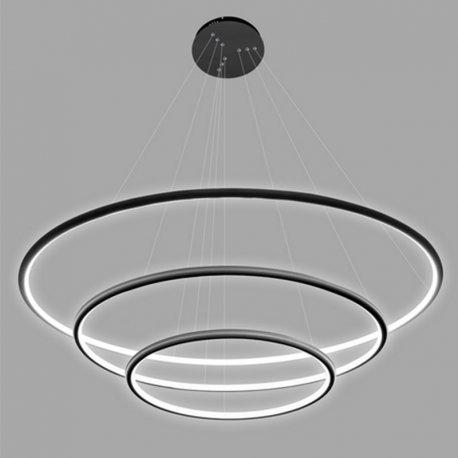 Ledowe Okręgi No.3 in 3k czarna Altavola Design Lampa wisząca