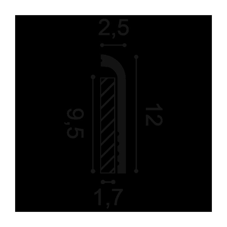 Orac Decor SX185 Listwa Przypodłogowa