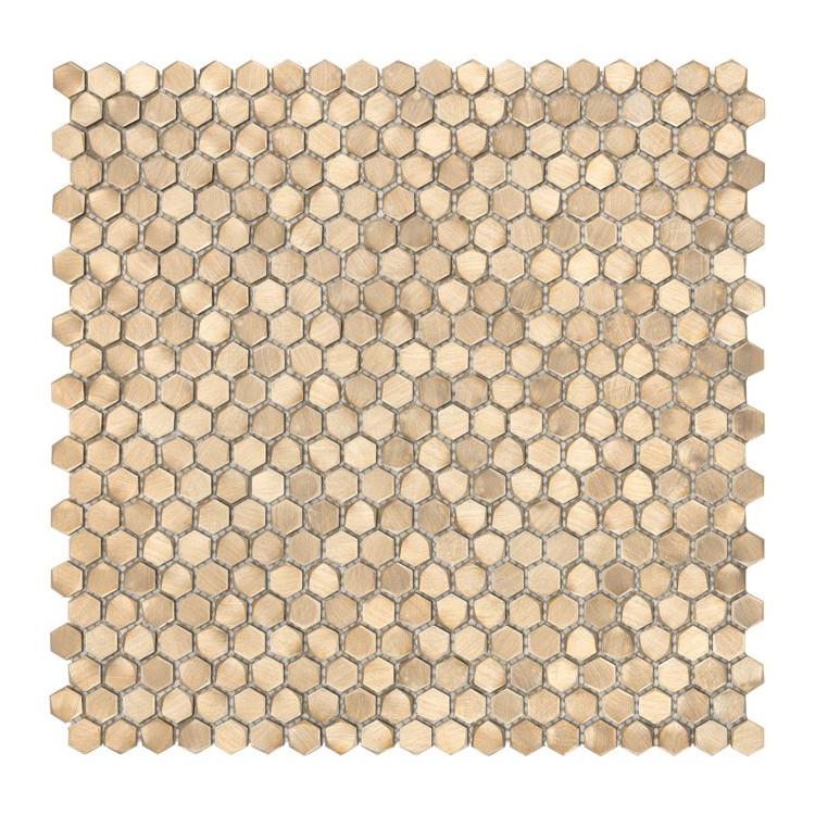 ALLUMI GOLD HEXAGON 14 Mozaika metalowa DUNIN