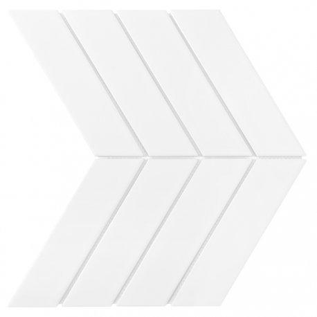 ROYAL CHEVRON WHITE MATT Płytka ceramiczna DUNIN