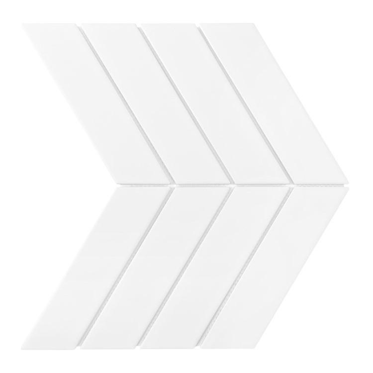 ROYAL CHEVRON WHITE MATT Płytka ceramiczna DUNIN Jodełka