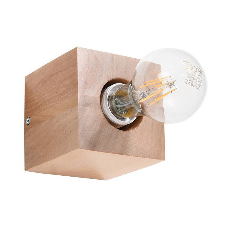 Abel Sollux Lighting Kinkiet naturalne drewno