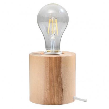 Salgado Sollux Lighting Plafon Kwadratowy Naturalne drewno
