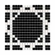 PURE B&W RADIANT 15 Mozaika kamienna DUNIN