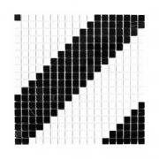 PURE B&W DIAGONAL 15 Mozaika kamienna DUNIN