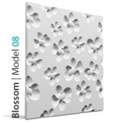 Model 08 BLOSSOM Panel ścienny 3D LOFT SYSTEM kwiaty
