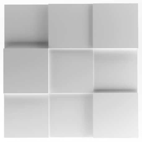 RUBIK Panel ścienny 3D ARTPANEL Kwadraty