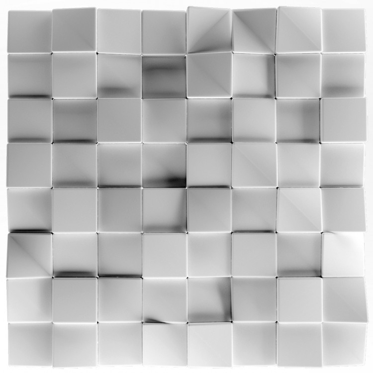 Quadrat Panel ścienny 3D ARTPANEL Kwadraty