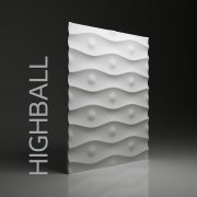 HIGHBALL Panel ścienny 3D DUNES